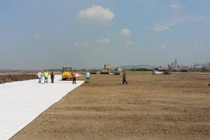 Închidere batal geotextil și geocompozit bentonitic Azomureș