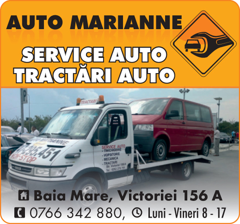 AUTO MARIANNE SRL - Service auto, Tractari auto, Tinichicerie, Vopsitorie, Reparatii instalatii electrice auto - Baia Mare
