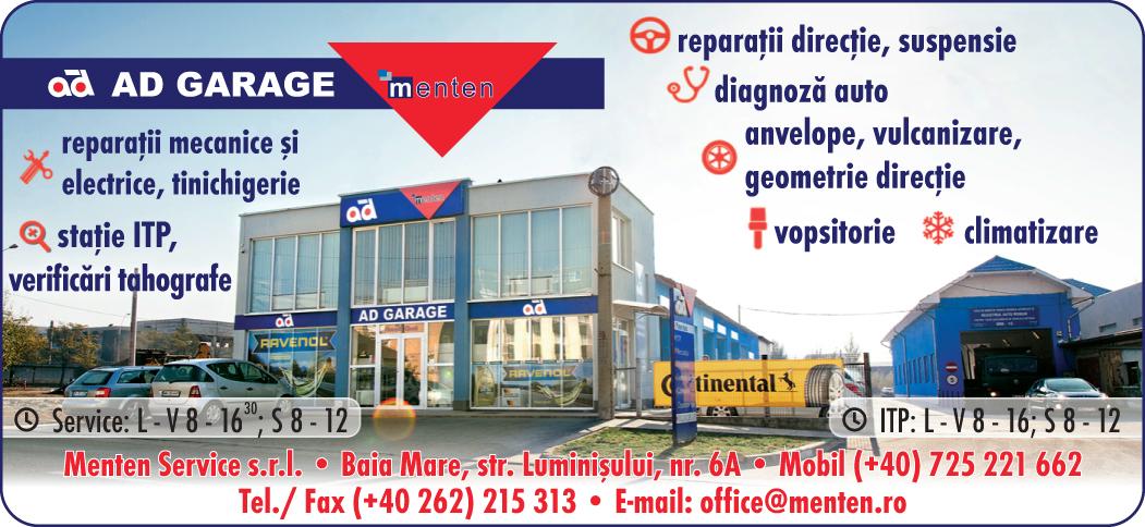 MENTEN SERVICE SRL- AD GARAGE Baia Mare - service auto, itp, tinichigerie, anvelope, piese auto, verificari tahografe