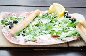 Carpaccio di vitello (cu grisine făcute în casă)