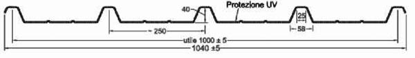 Luminator GRECA cu 5 cute 250-40 cu grosime de 3mm U= 4.50W/m<sup>2</sup>K