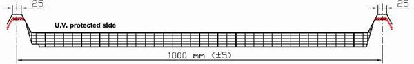 Luminator LIS cu grosime de 40mm U= 1.15W/m<sup>2</sup>K