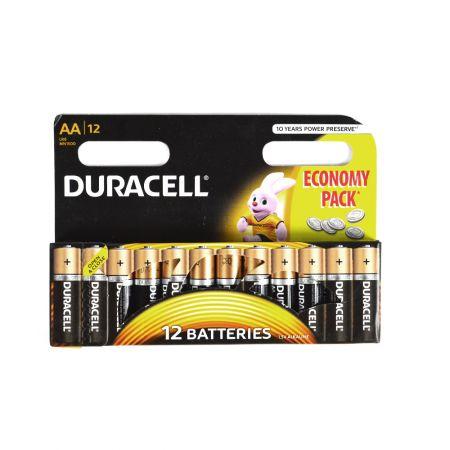 Baterii alcaline Duracell tip R6 12buc