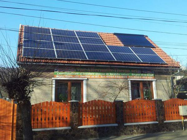 Casa Baia Mare panouri solare termice - Solarcenter Baia Mare