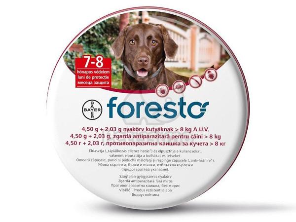 Zgarda antiparazitara FORESTO large dogs - Ancafarmvet Baia Mare