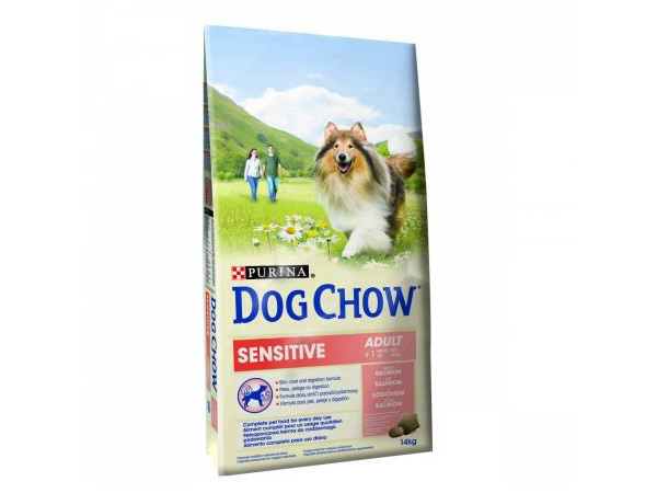 Dog Chow Sensitive - Somon & Orez - 14 kg - PETVET SHOP Cluj-Napoca