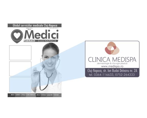 Anunt grafic modul coperta ghid medical cluj