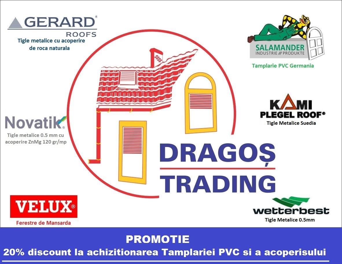 DRAGOS TRADING SRL - Tamplarie PVC, Tigle Metalice, Ferestre de mansarda - Constanta