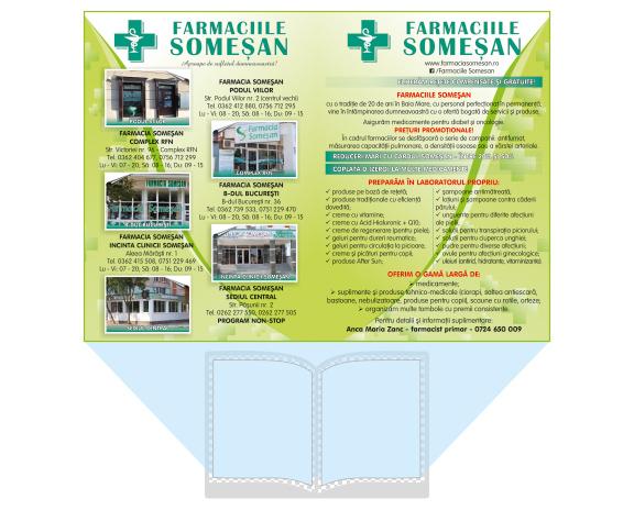 Anunt grafic doua pagini full A5 ghid medical baia mare