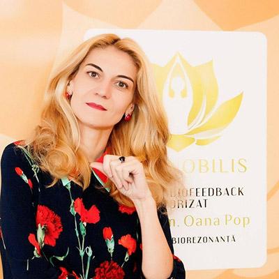 Dr. farm. Oana-Ioana Pop - Specialist biorezonanţă - Terapeut biofeedback autorizat